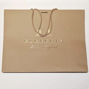 Burberry Large Embossed Shopping Bag & Gift Ribbon